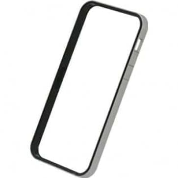 Power Support Silver and Black Flat Bumper Set for iPhone 5