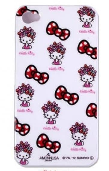 Hello Kitty iPhone 4 Case - Multi Hair Bows