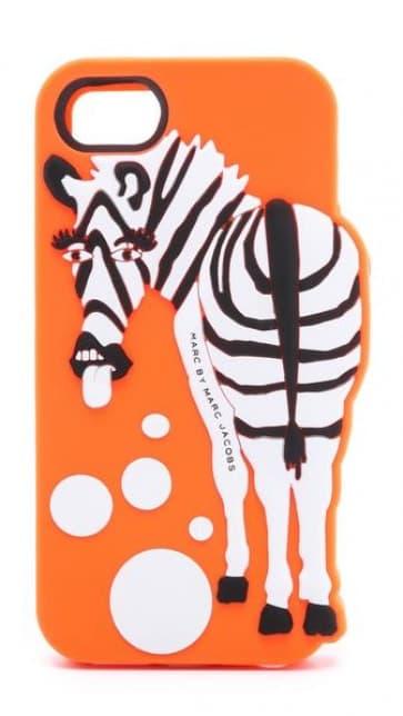 Marc Jacobs Zoody Zebra Raised Case iPhone 5 5s Orange Multi