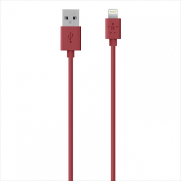 Belkin MIXIT Lightning to USB ChargeSync Cable 4 feet Red