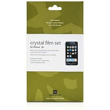 Power Support Crystal Film Set for iPhone 3G 3GS