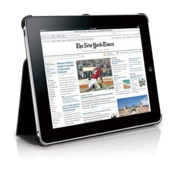 Macally Bookstand iPad Case Stand Black
