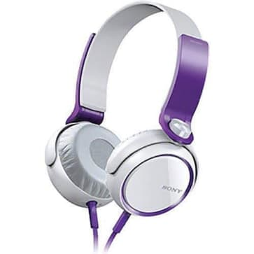 Sony MDR XB400/VLT Headphones Purple