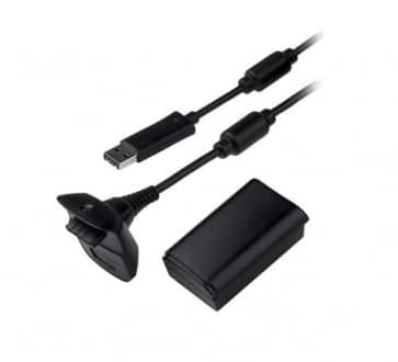 Xbox 360 Play and Charge Kit Black