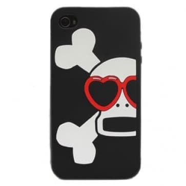 Paul Frank Heart Glasses Skurvy Silicone Case for iPhone 4