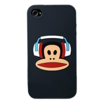 Paul Frank Headphone Julius Black Silicone Case for iPhone 4