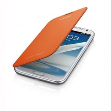 Samsung Galaxy Note II Flip Cover Orange
