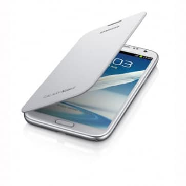 Samsung Galaxy Note II Flip Cover Marble White
