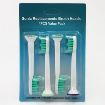 Pack of 4 Toothbrush Replacement Brush Heads for Philips Sonicare Proresults HX6014