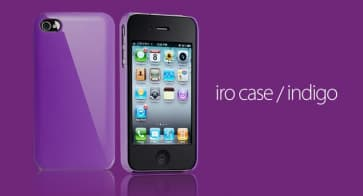 Essential TPE Iro Glossy Indigo Purple UV Coating Snap Case for iPhone 4