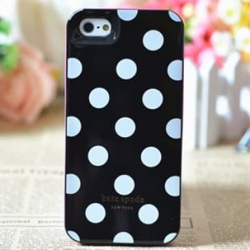 Kate Spade New York Black with White Dots Case For iPhone 5