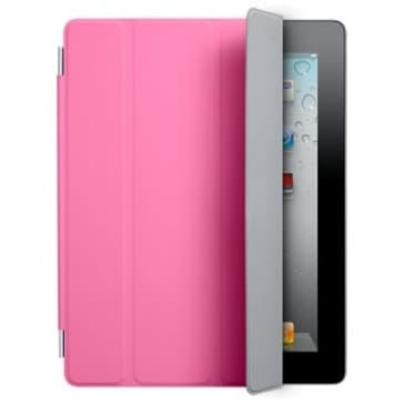 Smart Cover for Apple iPad 2 and the new iPad - Polyurethane Pink