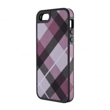 MegaPlaid Mulberry Black for iPhone 5