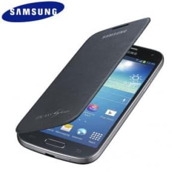 Samsung Galaxy S4 Mini Flip Black Case Cover