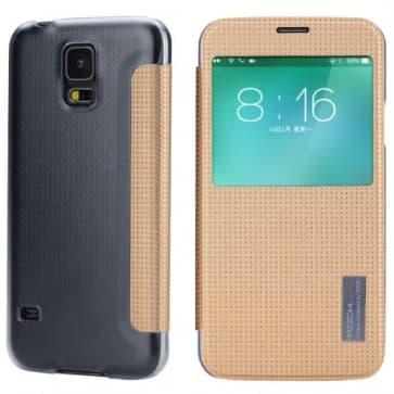 Rock Elegant Series Flip Case for Samsung Galaxy S5 Champagne Gold