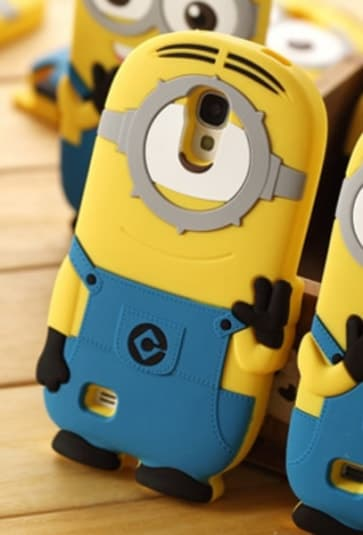 3D One Eye Minion Despicable Me Case for Galaxy S4