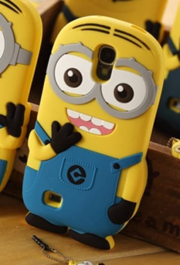 3D Two Eyes Minion Despicable Me Case for Galaxy S4