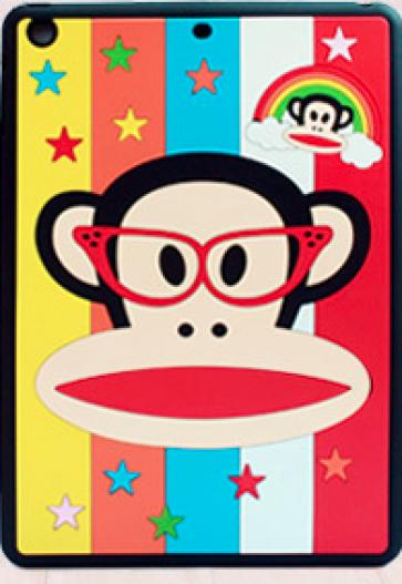 Paul Frank Silicone Case for iPad Air Rainbow Monkey Black Groovy Julius