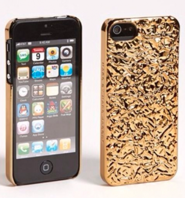 Marc Jacobs Foil Phone Case for iPhone 5 and 5s Gold