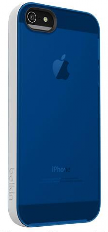 Belkin Grip Candy Sheer for iPhone 5 5s Overcast Civic Blue