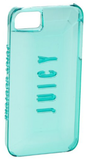 Juicy Couture Case for iPhone 5 5s 3D Gemstone Sea Jade