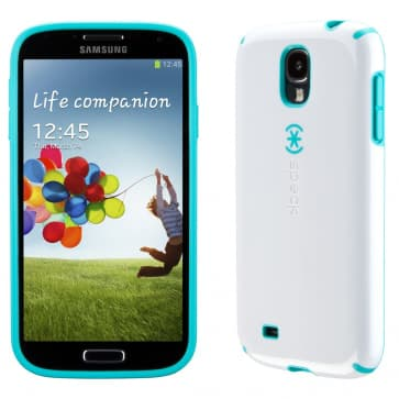 Speck CandyShell White Caribbean Blue Case For Galaxy S4