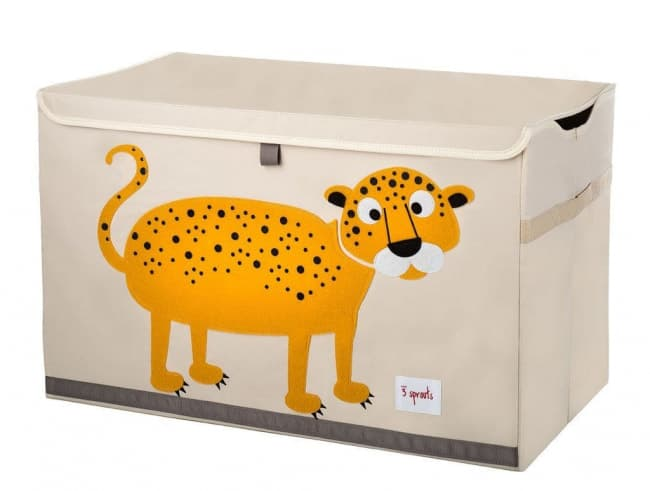 3 Sprouts Toy Chest Leopard Toy Game World