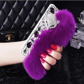 Fur Bling Rhinestone Case for iPhone 7 Plus