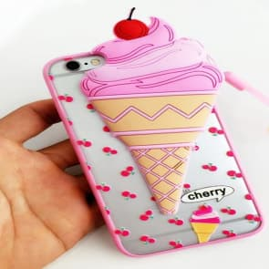 Cute Ice Cream 3D Case for iPhone 7 Plus
