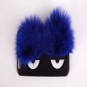 Monster Eyes Fur Leather Case for iPhone 7 Plus