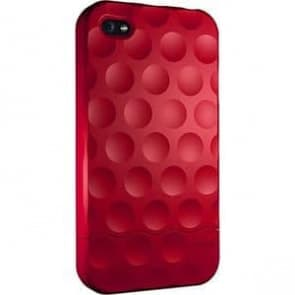 Hard Candy Soft Touch Red Bubble Slider Case for iPhone 4