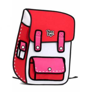3D 2D Effect Cartoon Paper Bag Comic Backpack Bag