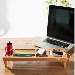DIY Bamboo Wooden Keyboard Desk Organizer