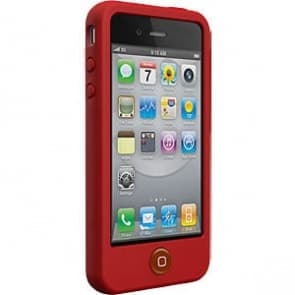 SwitchEasy Colors Crimson Red Silicone Case for iPhone 4