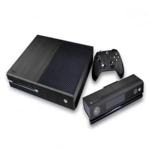 Xbox One Carbon Fiber Black Vinyl Decal Skin for Console, Controller, Kinect