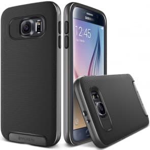 Verus Steel Silver Galaxy S6 Case Crucial Bumper Series