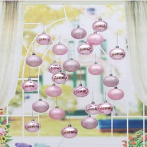 Decorative Christmas Bulbs Pack of 24