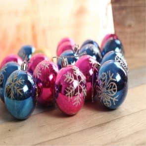Glittery Shatterproof Christmas Bulbs, Pack of 20