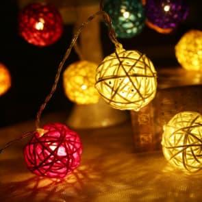 Decorative Stylish Ball LED Lights 5 Meters 16 Feet 20 Lights