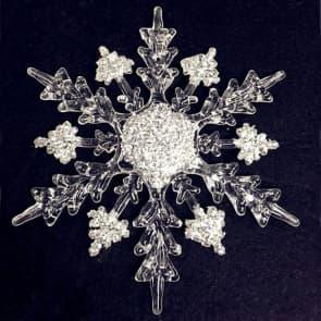 Elegant Christmas Tree Ornaments - 4-6 Inch Snowflake 11-16cm
