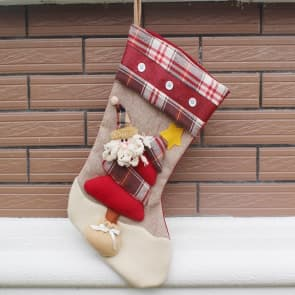 Christmas Stocking High Quality Fabric - Pack of 3