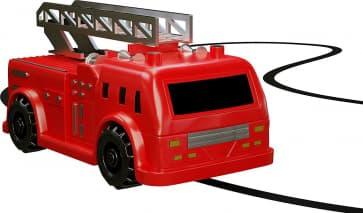 Magic Inductive Truck Follows Black Line Fire Truck